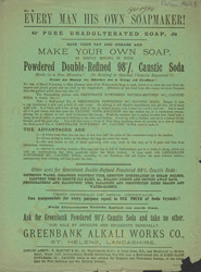 Advert for T Harvey & Co's soap